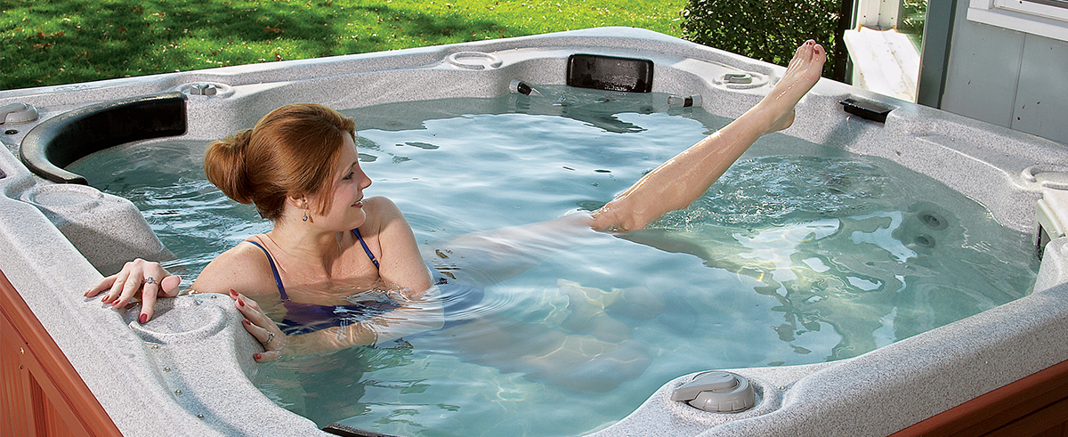 Exercising in Hot Tub
